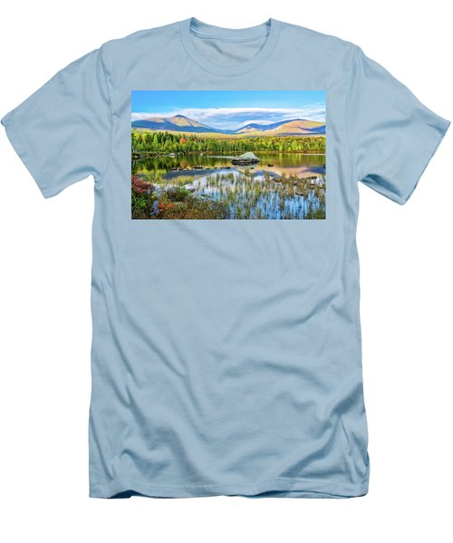 Autumn Mt.katahdin Baxter Sp Maine Men's T-Shirt (Slim Fit) by Michael Hubley