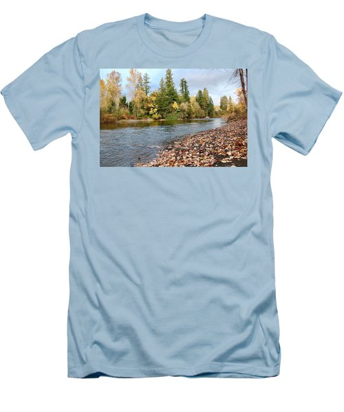 Autumn On The Molalla Men's T-Shirt (Athletic Fit)