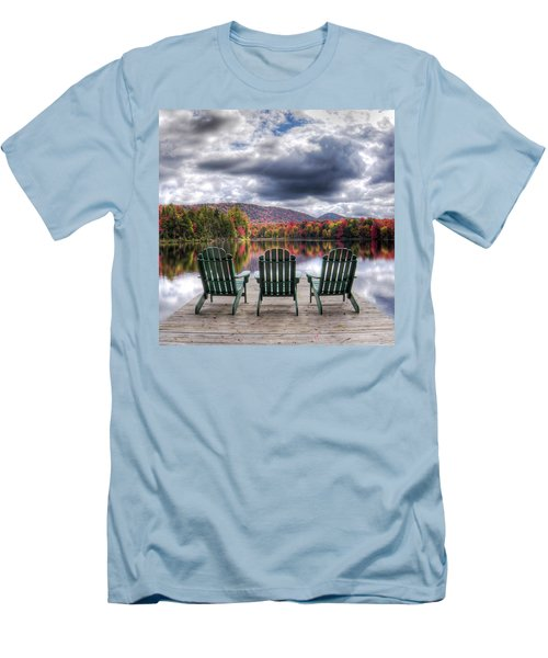 Men's T-Shirt (Slim Fit) featuring the photograph Autumn On West Lake by David Patterson
