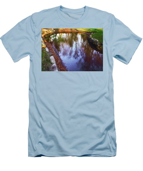 Autumn Reflection Pond Men's T-Shirt (Athletic Fit)