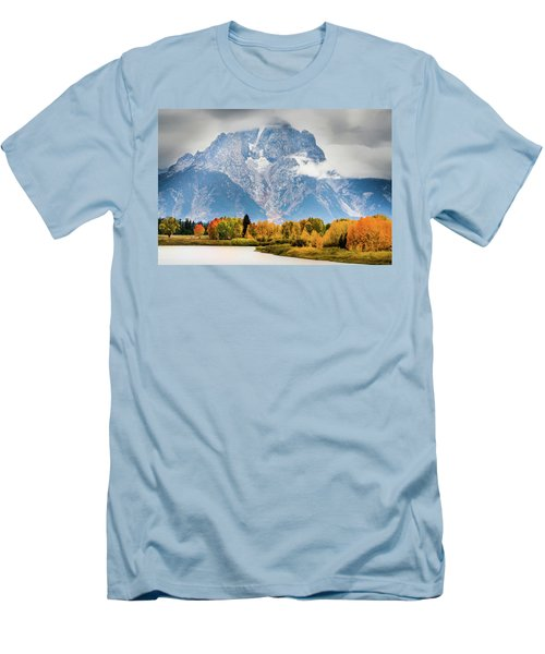 Autumn Storm Over Mount Moran Men's T-Shirt (Athletic Fit)