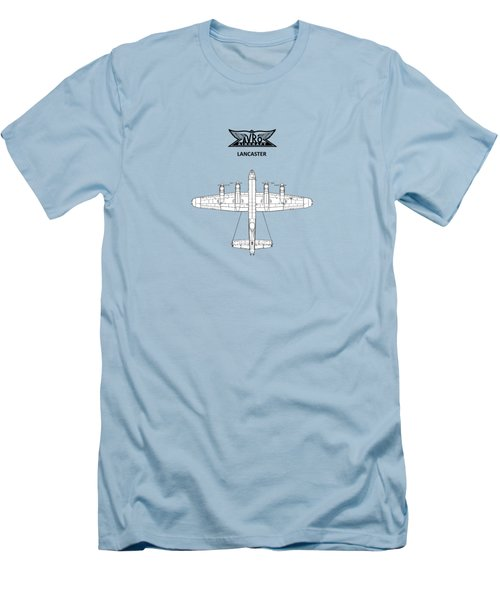 Avro Lancaster Men's T-Shirt (Slim Fit) by Mark Rogan