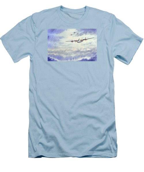 B-24 Liberator Aircraft Painting Men's T-Shirt (Slim Fit) by Bill Holkham