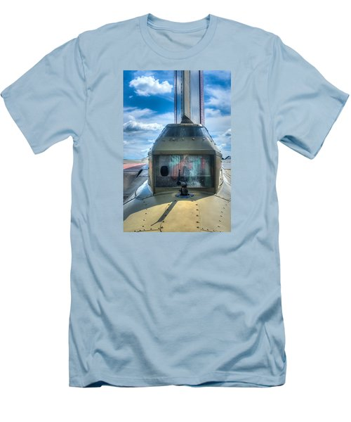 Men's T-Shirt (Slim Fit) featuring the photograph B17 Tail Gunner Position by Gary Slawsky