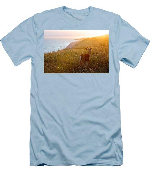 Baby Deer Men's T-Shirt (Slim Fit) by Evgeny Vasenev