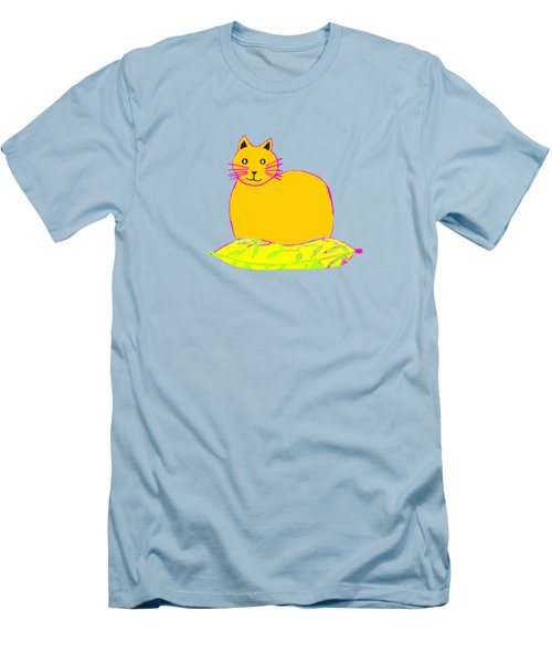 Background Colour Choice Saffron Cat Men's T-Shirt (Athletic Fit)