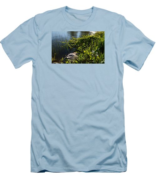 Men's T-Shirt (Slim Fit) featuring the photograph Backlight Plants By The Water  by Lyle Crump