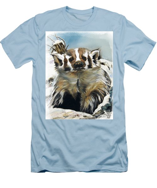 Badger - Guardian Of The South Men's T-Shirt (Slim Fit) by J W Baker
