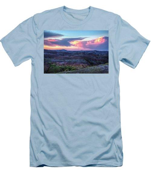Badlands Sunrise Men's T-Shirt (Slim Fit) by Fiskr Larsen