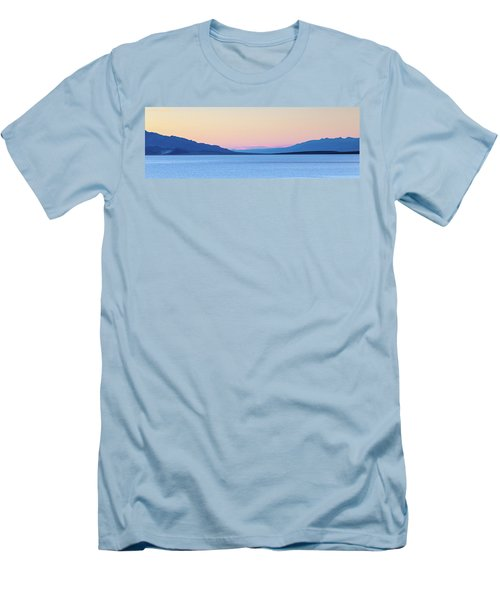 Men's T-Shirt (Slim Fit) featuring the photograph Badwater - Death Valley by Peter Tellone