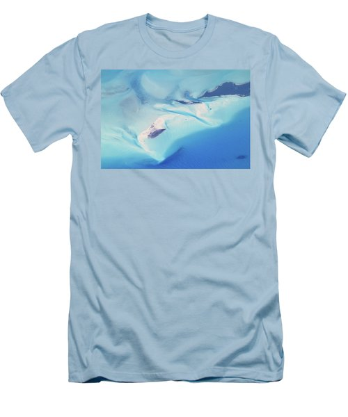 Men's T-Shirt (Slim Fit) featuring the photograph Bahama Banks Aerial Seascape by Roupen  Baker