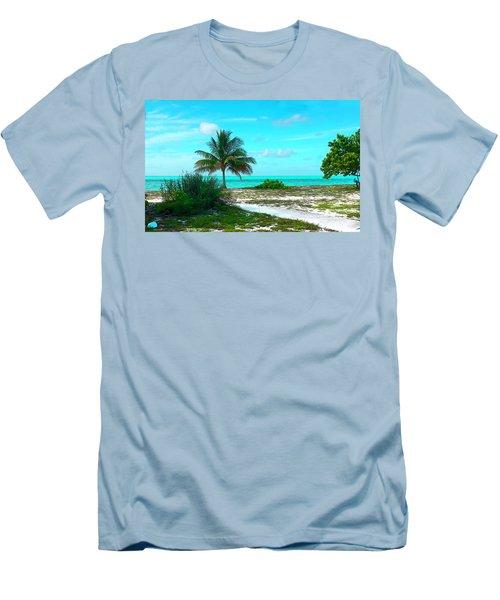 Bahama Beach Photo Men's T-Shirt (Athletic Fit)