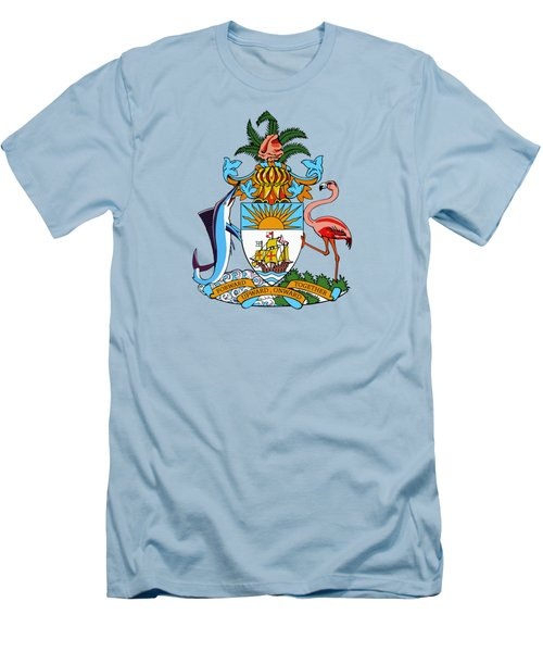 Bahamas Coat Of Arms Men's T-Shirt (Slim Fit) by Movie Poster Prints