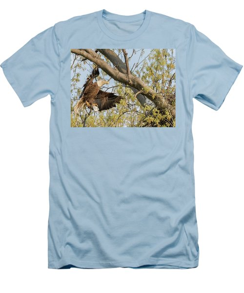 Bald Eagle Catch Of The Day  Men's T-Shirt (Athletic Fit)