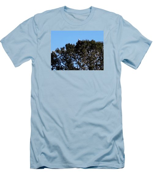 Men's T-Shirt (Slim Fit) featuring the photograph Bald Eagle In Juniper by Deborah Moen