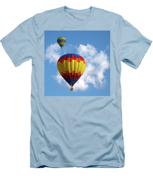 Men's T-Shirt (Slim Fit) featuring the photograph Balloons In The Cloud by Marie Leslie
