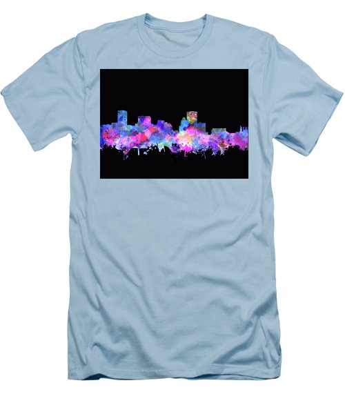 Men's T-Shirt (Slim Fit) featuring the painting Baltimore Skyline Watercolor 5 by Bekim Art