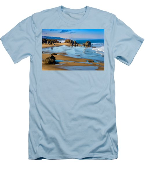 Bandon Beach Men's T-Shirt (Athletic Fit)