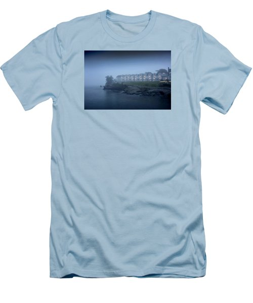 Bar Harbor Inn - Stormy Night Men's T-Shirt (Slim Fit) by Brendan Reals