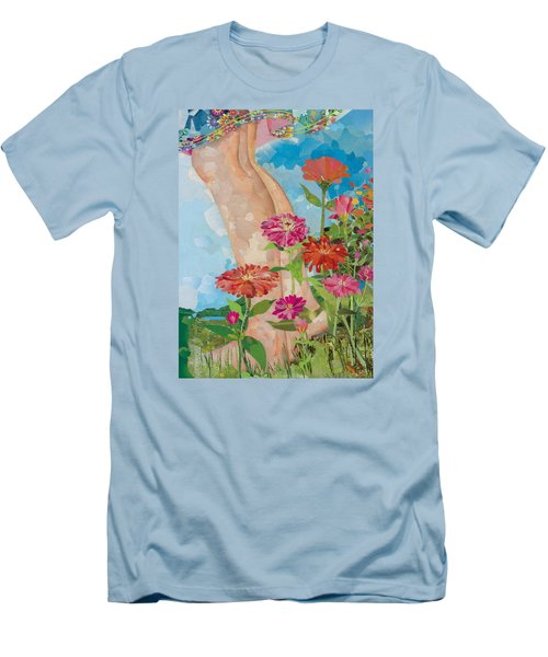 Barefoot Men's T-Shirt (Slim Fit) by Robin Birrell