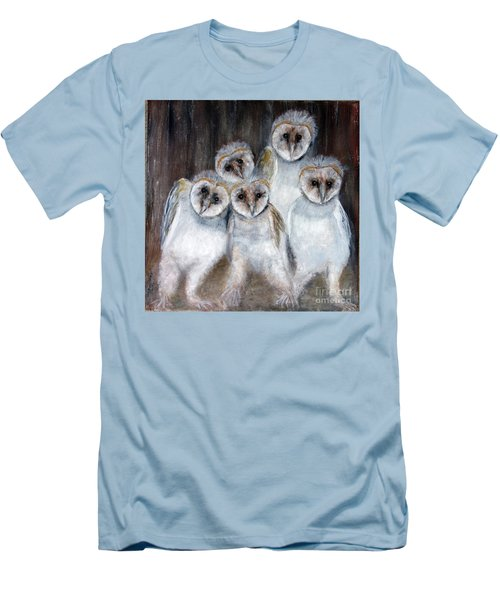 Barn Owl Chicks Men's T-Shirt (Athletic Fit)