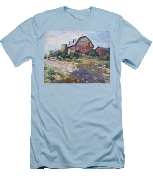 Barns In Georgetown Men's T-Shirt (Athletic Fit)