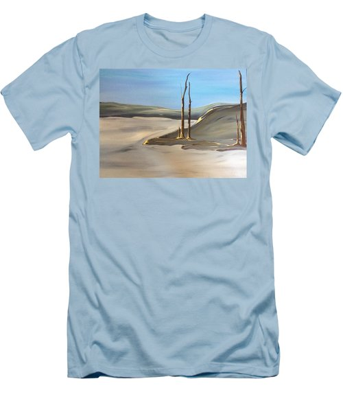 Men's T-Shirt (Slim Fit) featuring the painting Barren by Pat Purdy