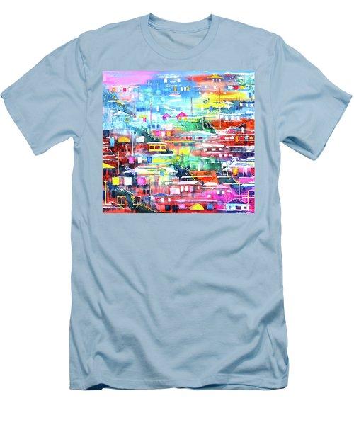Barrio El Cerro De Yauco Men's T-Shirt (Athletic Fit)