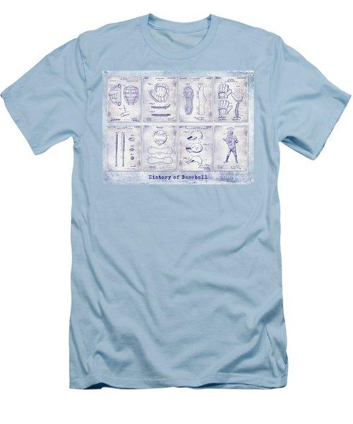 Baseball Patent History Blueprint Men's T-Shirt (Athletic Fit)