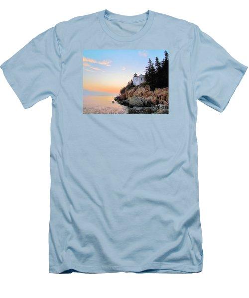 Bass Harbor Sunset II Men's T-Shirt (Slim Fit) by Elizabeth Dow