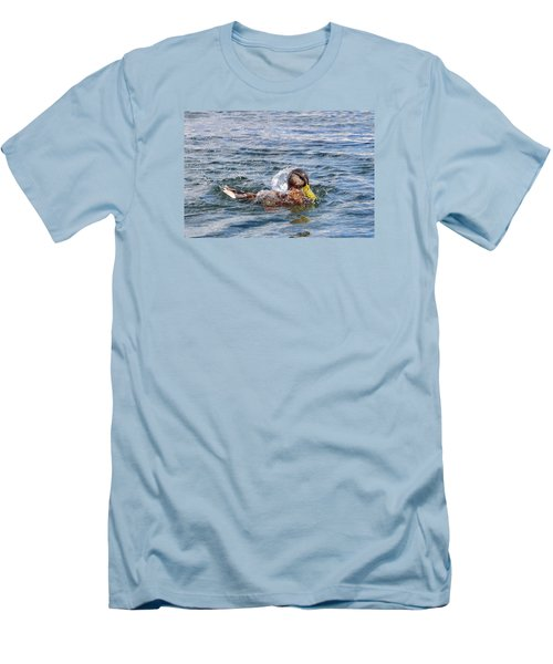 Men's T-Shirt (Slim Fit) featuring the photograph Bath Time by Glenn Gordon