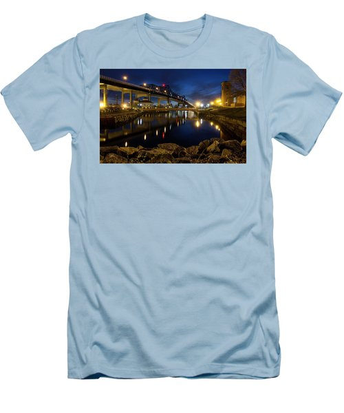 Battleship Cove, Fall River, Ma Men's T-Shirt (Athletic Fit)