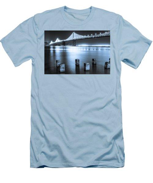 Bay Bridge 1 In Blue Men's T-Shirt (Athletic Fit)
