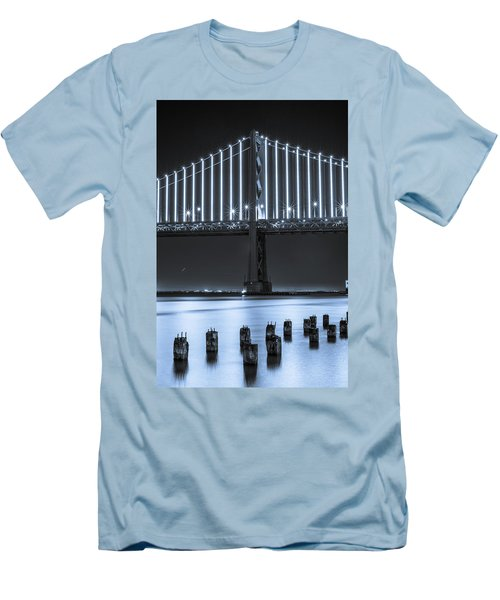 Bay Bridge 2 In Blue Men's T-Shirt (Athletic Fit)