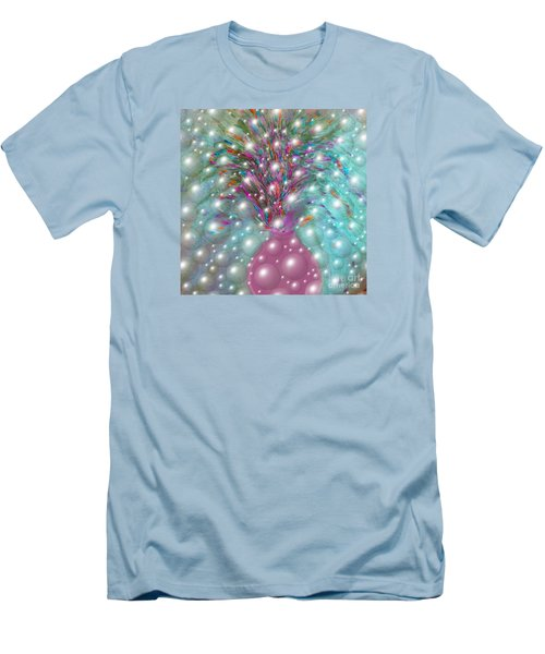 Men's T-Shirt (Slim Fit) featuring the digital art Bbubbling Vase Of Flowers by Sherri Of Palm Springs