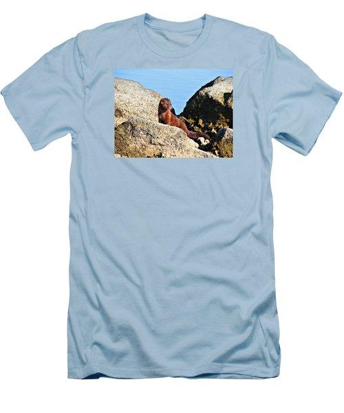 Beachcomber Men's T-Shirt (Slim Fit) by Laura Ragland