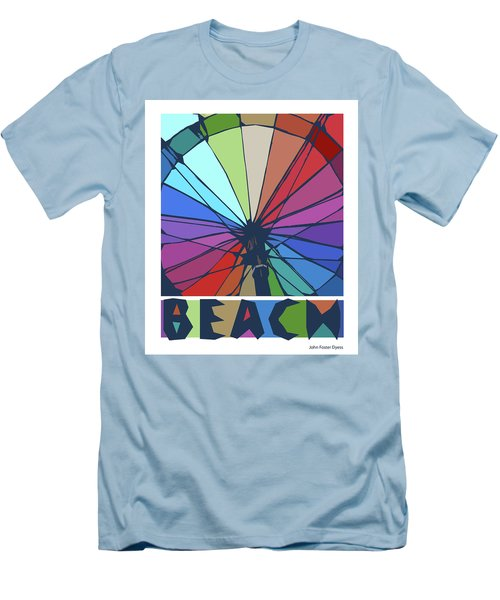 Beach Design By John Foster Dyess Men's T-Shirt (Athletic Fit)