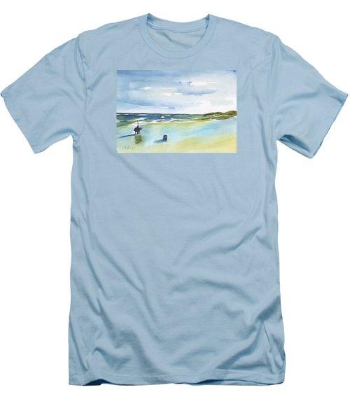 Beach Fishing Men's T-Shirt (Slim Fit) by Frank Bright