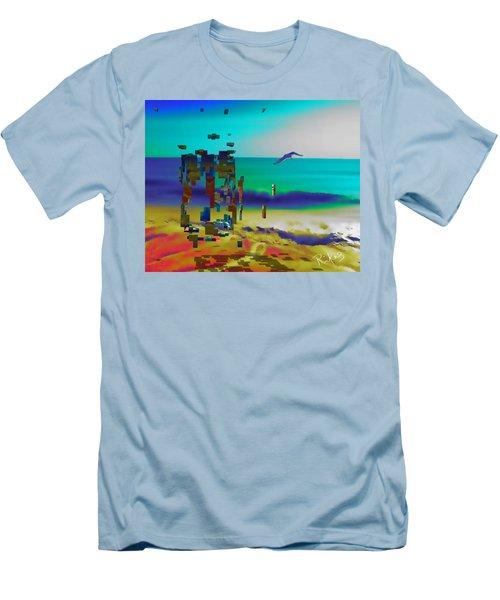 Beach Geometry  Men's T-Shirt (Athletic Fit)