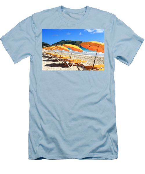 Beach Umbrellas Men's T-Shirt (Athletic Fit)