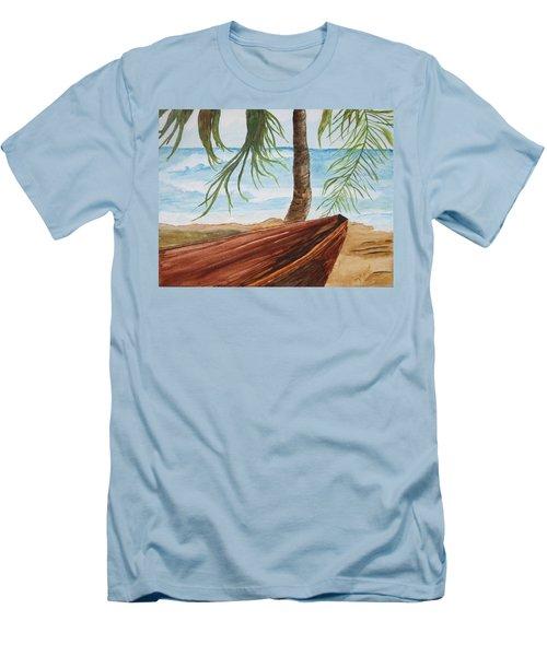 Beached Boat Men's T-Shirt (Slim Fit) by Maris Sherwood