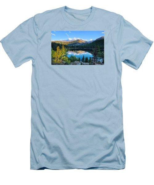 Bear Lake Reflection Men's T-Shirt (Slim Fit) by Ronda Kimbrow