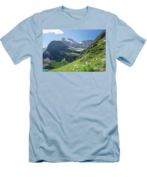 Beargrass - Grinnell Glacier Trail - Glacier National Park Men's T-Shirt (Athletic Fit)