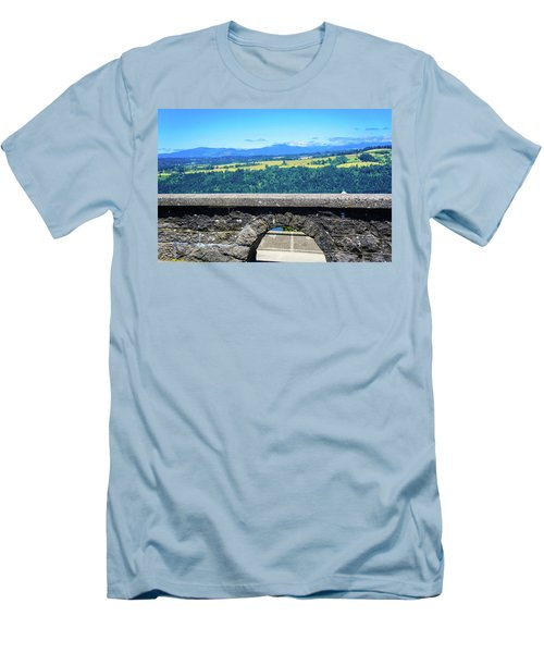 Beautiful Landscape From Vista House Men's T-Shirt (Athletic Fit)