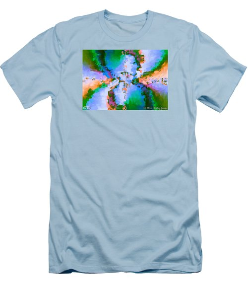 Men's T-Shirt (Slim Fit) featuring the painting Beautiful Life by Holley Jacobs