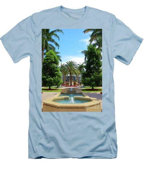 Beautiful Mizner Park In Boca Raton, Florida. #8 Men's T-Shirt (Athletic Fit)