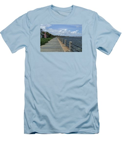 Beautiful Waterfront Walkway Men's T-Shirt (Athletic Fit)