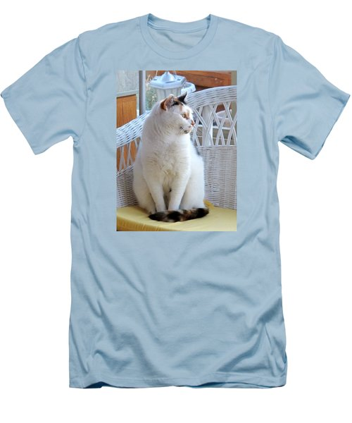 Men's T-Shirt (Slim Fit) featuring the photograph Beauty In White by Phyllis Kaltenbach