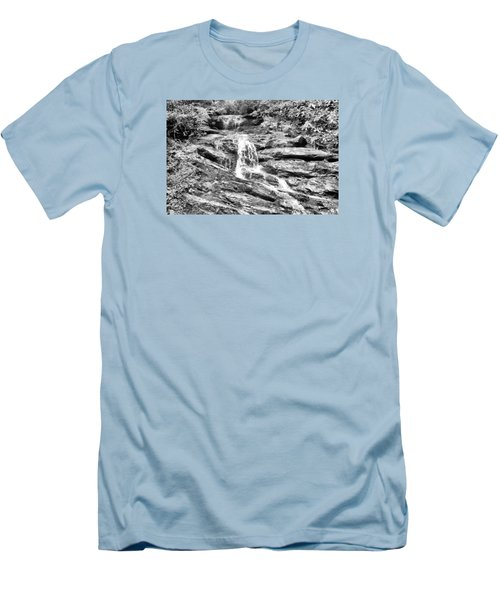 Becky Branch Falls In Black And White Men's T-Shirt (Slim Fit) by James Potts
