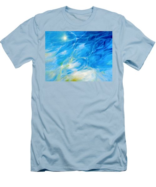 Becoming Crystal Clear Men's T-Shirt (Slim Fit) by Dina Dargo